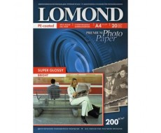 Суперглянцевая ярко-белая (Super Glossy Bright) фотобумага для струйной печати, A4, 200 г/м2, 20 листов,1101112