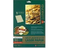 Самоклеящаяся цветная бумага LOMOND глянцевая золотая НЕДЕЛ/А4/50л,2050005