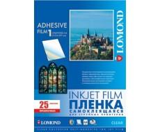 Прозр. самоклеящаяся плёнка для струйной печати,А4,100 мкм,10 листов  Lom-1708411