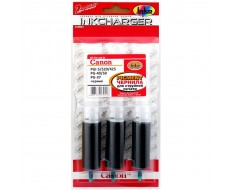 Заправочный комплект INKO CANON PGI-5Bk, PGI-520, PGI-425, PG-37, 40Bk, Premium pigment, чёрный 3 x 20 мл